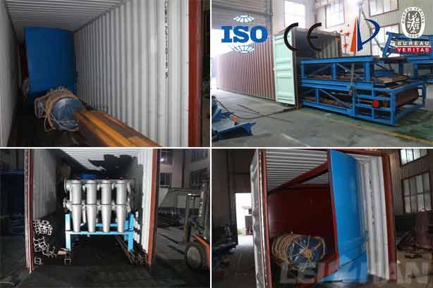 corrugated t paper manufacturing machine delivery site